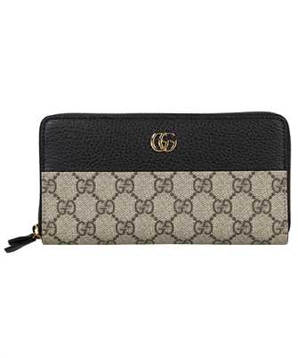 Gucci 456117 17WAG GG MARMONT ZIP AROUND Wallet