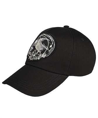 Alexander McQueen 632897 4105Q DRAWN SKULL Cap