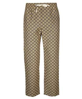 Gucci 658090-Z8AOV GG CANVAS WITH LEATHER INTERLOCKING G Pantalone