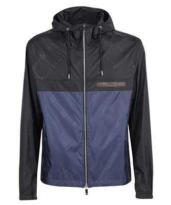 BERLUTI R19OBU77 001 SIGNATURE JACQUARD NYLON B-WAY Jacket