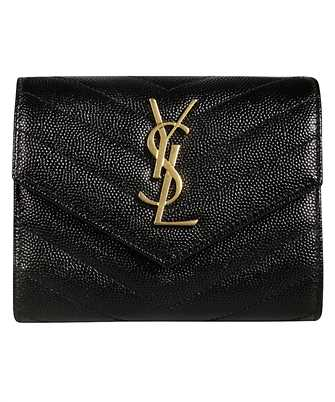 Saint Laurent 403943 BOW01 COMPACT TRI FOLD Wallet