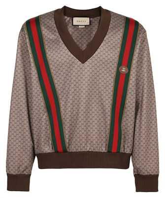 Gucci 653366 XJDFB V-NECK SWEAT TECHNICAL JERSEY Sweatshirt