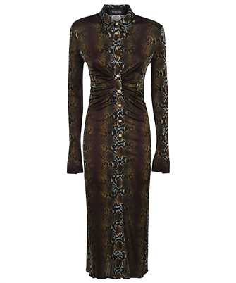 Versace A88465 1F00460 PYTHON PRINT MIDI SHIRT Dress