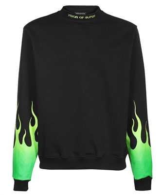 Vision Of Super B12GREENSFU SHADED FLAMES Sweatshirt