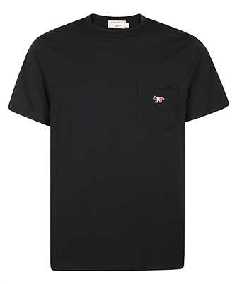 Maison Kitsune FM00120KJ0010 TRICOLOR FOX PATCH POCKET T-shirt