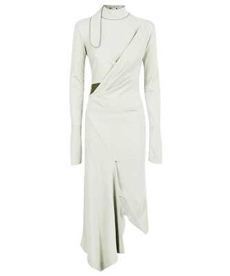 Off-White OWDB352F21JER001 ASYMMETIRICAL L/S Dress