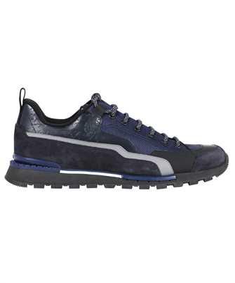 BERLUTI S5529 001 FAST TRECK SCRITTO LEATHER AND NYLON Sneakers