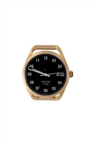 Tom Ford 20146434 AUTOMATIC BLACK DIAL 40 MM 18K YELLOW GOLD Watch