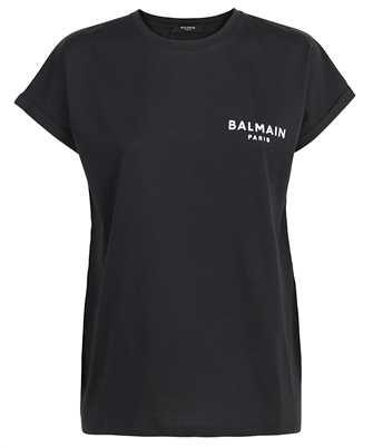 Balmain WF1EF010B013 FLOCKED LOGO T-shirt