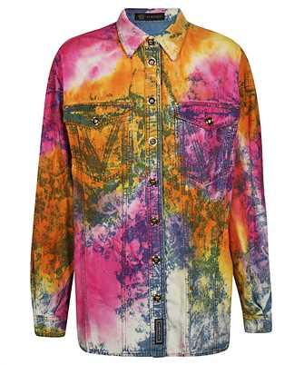 Versace A85385 A225563 TIE-DYE DENIM Shirt