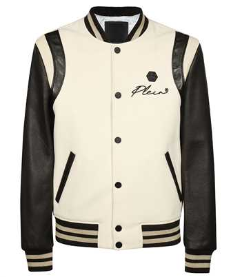 Philipp Plein FAAC MLB1414 PLE010N LEATHER BOMBER EMBROIDERY SIGN Giacca