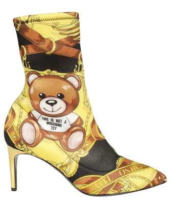 Moschino MA21087C1DMM0 ALLOVER TEDDY SCARF ANKLE Boots