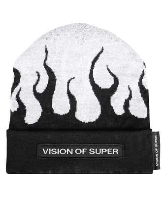 Vision Of Super BEANIEFLWHITE WHITE FLAMES Beanie