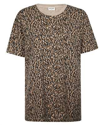 Saint Laurent 628558 YBUY2 LEOPARD-PRINT T-shirt