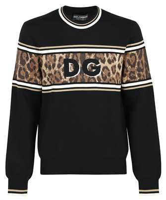 Dolce & Gabbana GXG36T JBVB0 LEOPARD DESIGN JACQUARD Knit