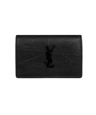 Saint Laurent 606734 C9H0U CROCODILE EMBOSSED LEATHER Wallet