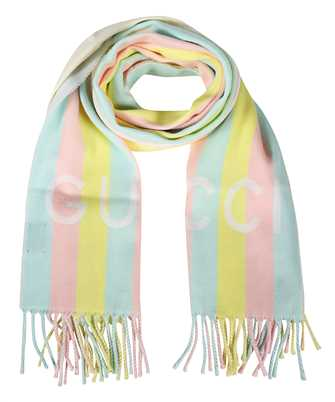 Gucci 627873 3GD91 STRIPED WOOL Scarf