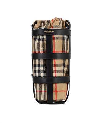 Burberry 8038798 VINTAGE CHECK LEATHER WATER BOTTLE HOLDER Bag
