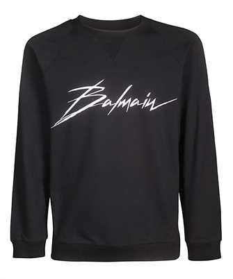 Balmain RF13736I044 CREW NECK BALMAIN SIGNATURE Sweatshirt