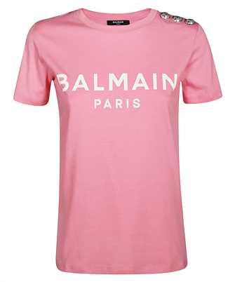 Balmain TF01350I415 FLOCK LOGO T-shirt