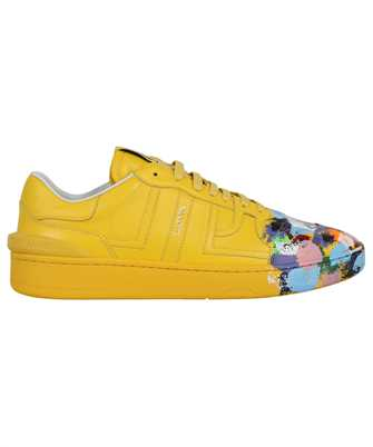 Lanvin FM SKDK00 MAGD E21 PAINTED CALFSKIN LEATHER CLAY LOW-TOP Sneakers