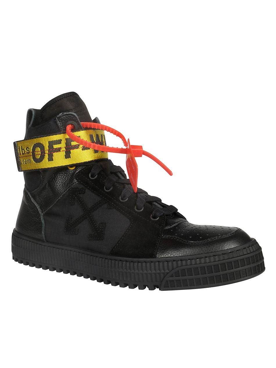Off White Shoes Off-White OMIA102R19800001 INDUSTRIAL men's black sneakers with ...