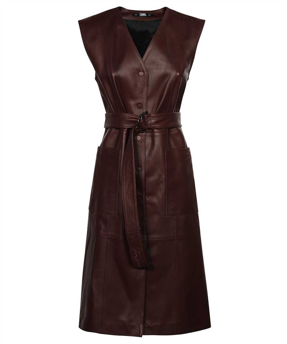 Karl Lagerfeld 216W1900 LEATHER GILET Kleid 1