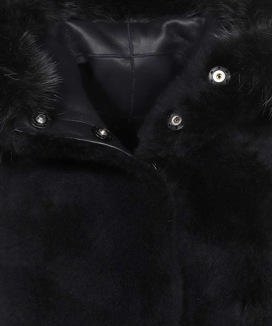 Karl Donoghue CMFHGW1 CASHMERE TOUCH SHEARLING & FOX FUR HOODED Gilet 3