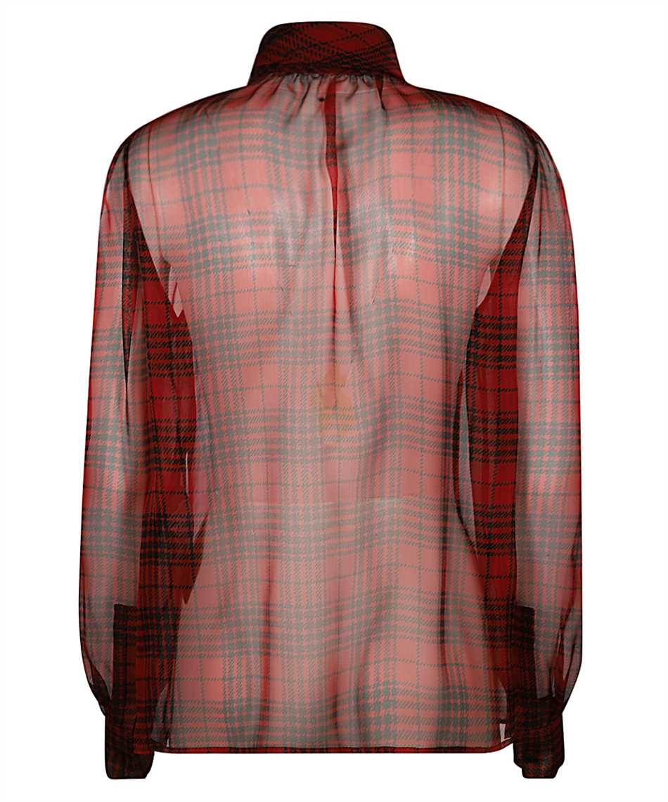 Saint Laurent 641585 Y8B86 LAVALLIERE-NECK Shirt 2