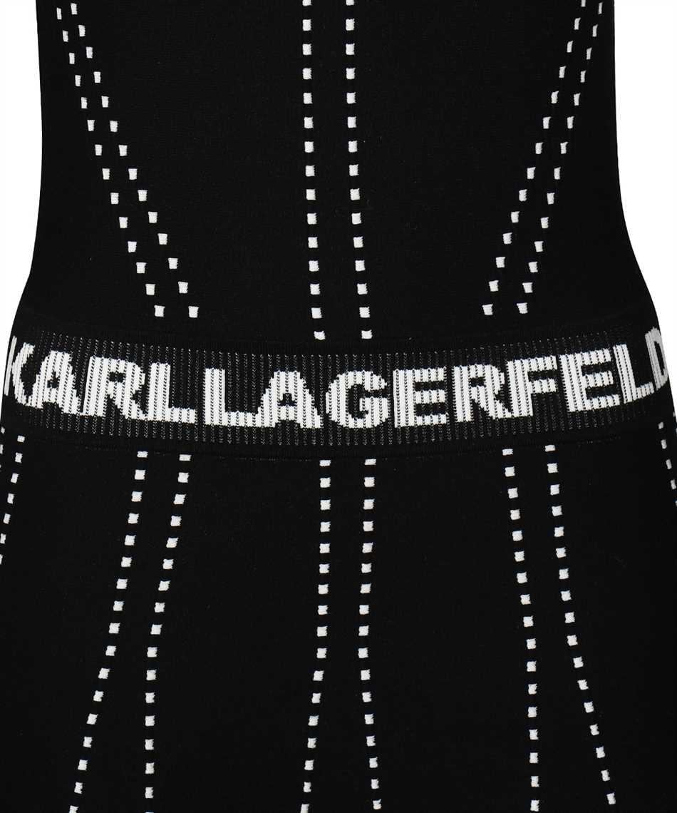 Karl Lagerfeld 216W2031 CONTRAST STITCH KNIT Kleid 3