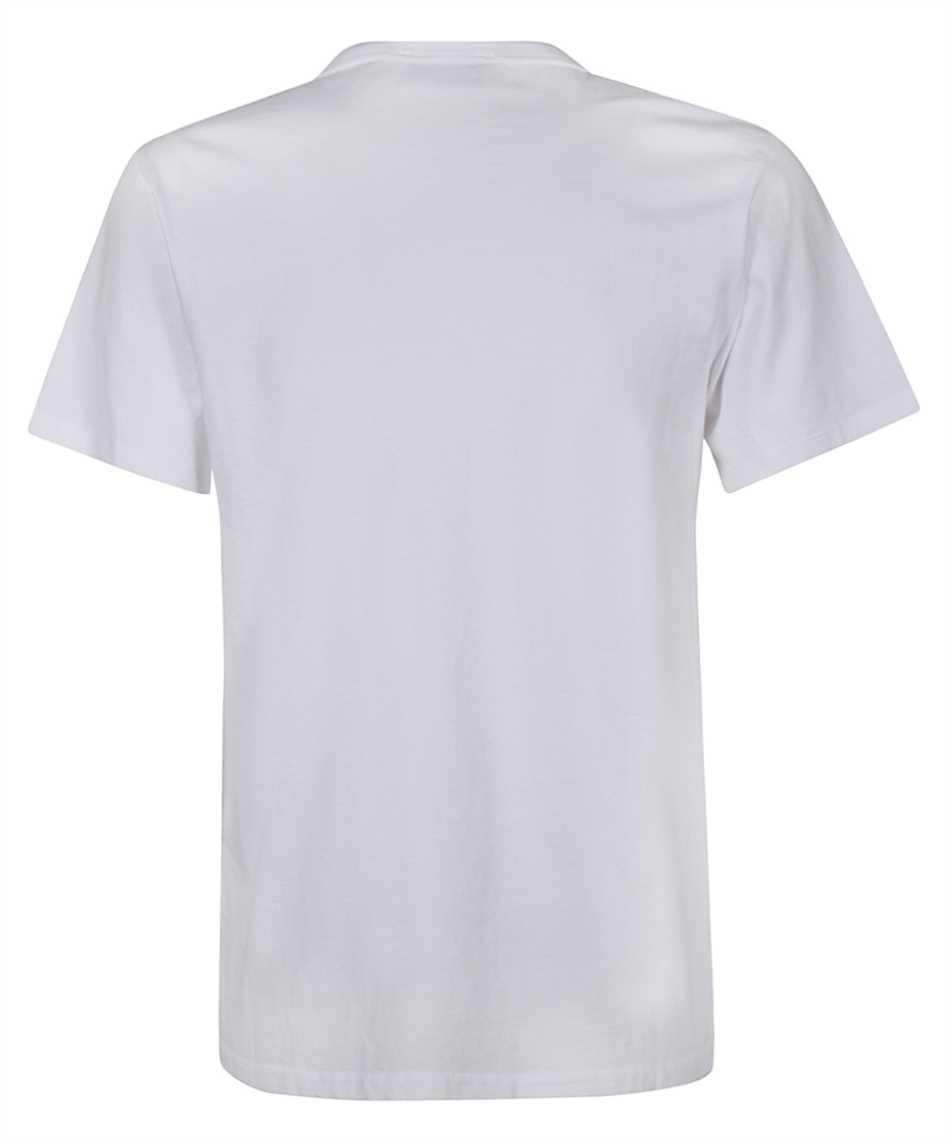 Maison Kitsune FW00107KJ0010 TRICOLOR FOX PATCH CLASSIC POCKET T-Shirt 2