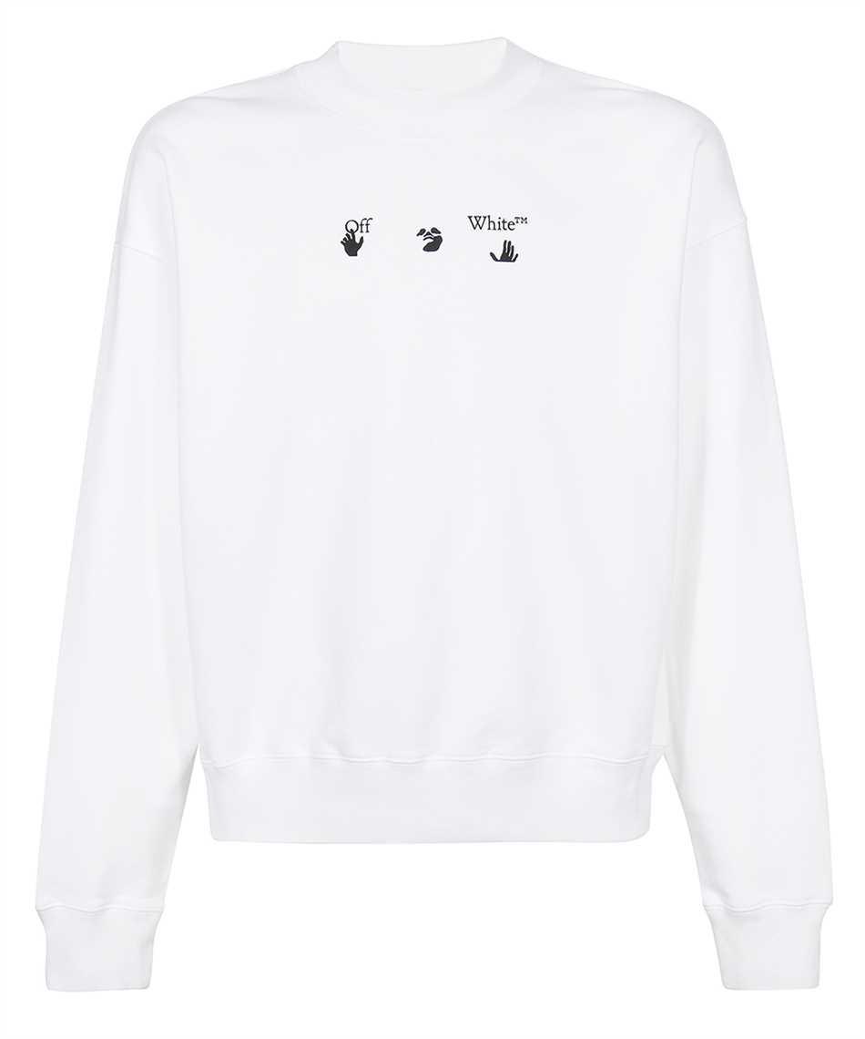 Off-White OMBA054F21FLE014 NEGATIVE MARK SKATE Sweatshirt 1