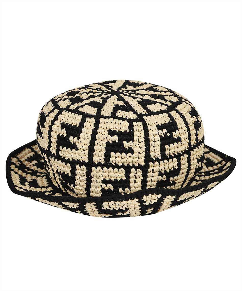 Fendi FXQ688 ADRH RAFFIA BUCKET Hat 2