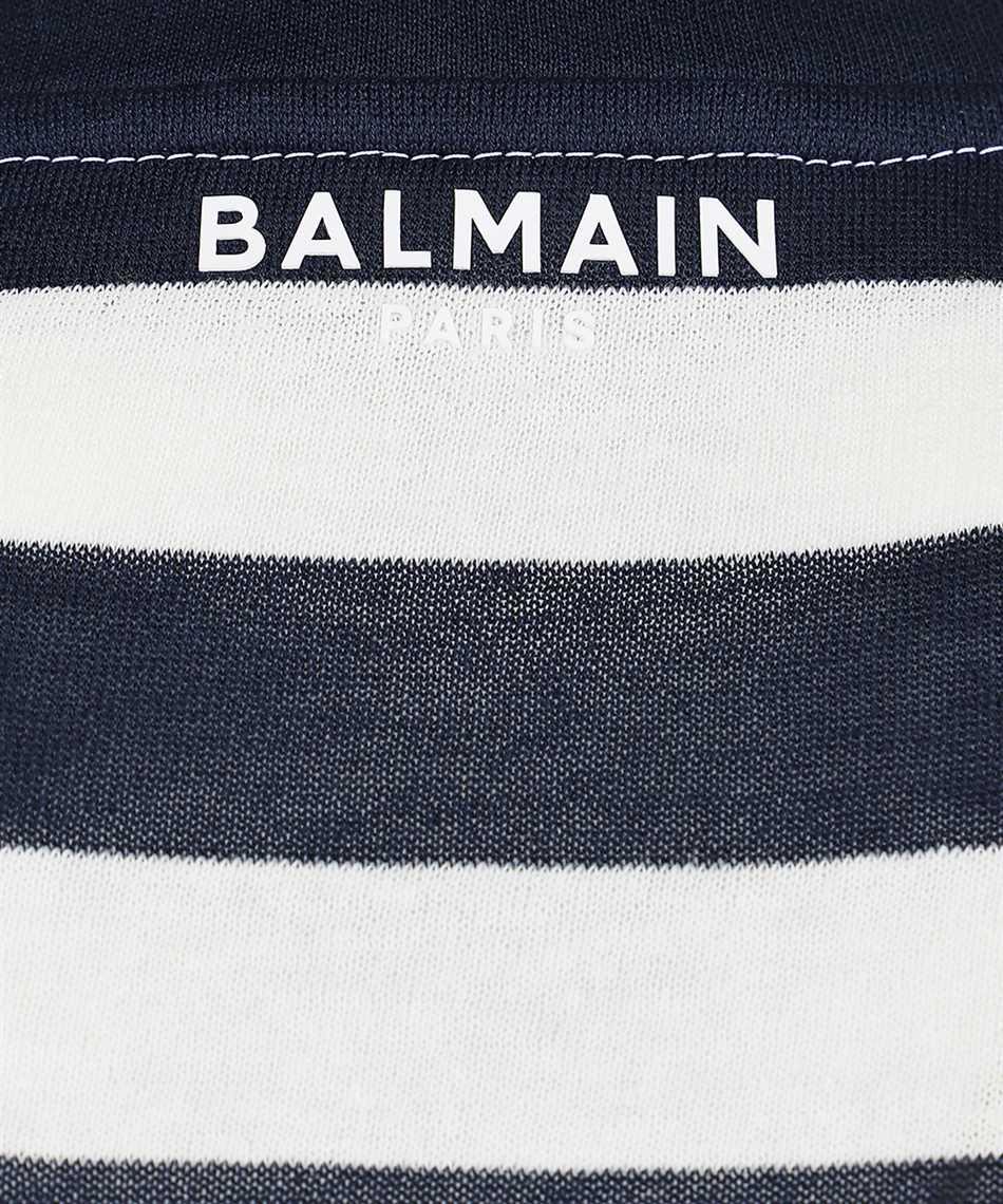 Balmain WH0EF000J333 BACK STRIPPED T-shirt 3