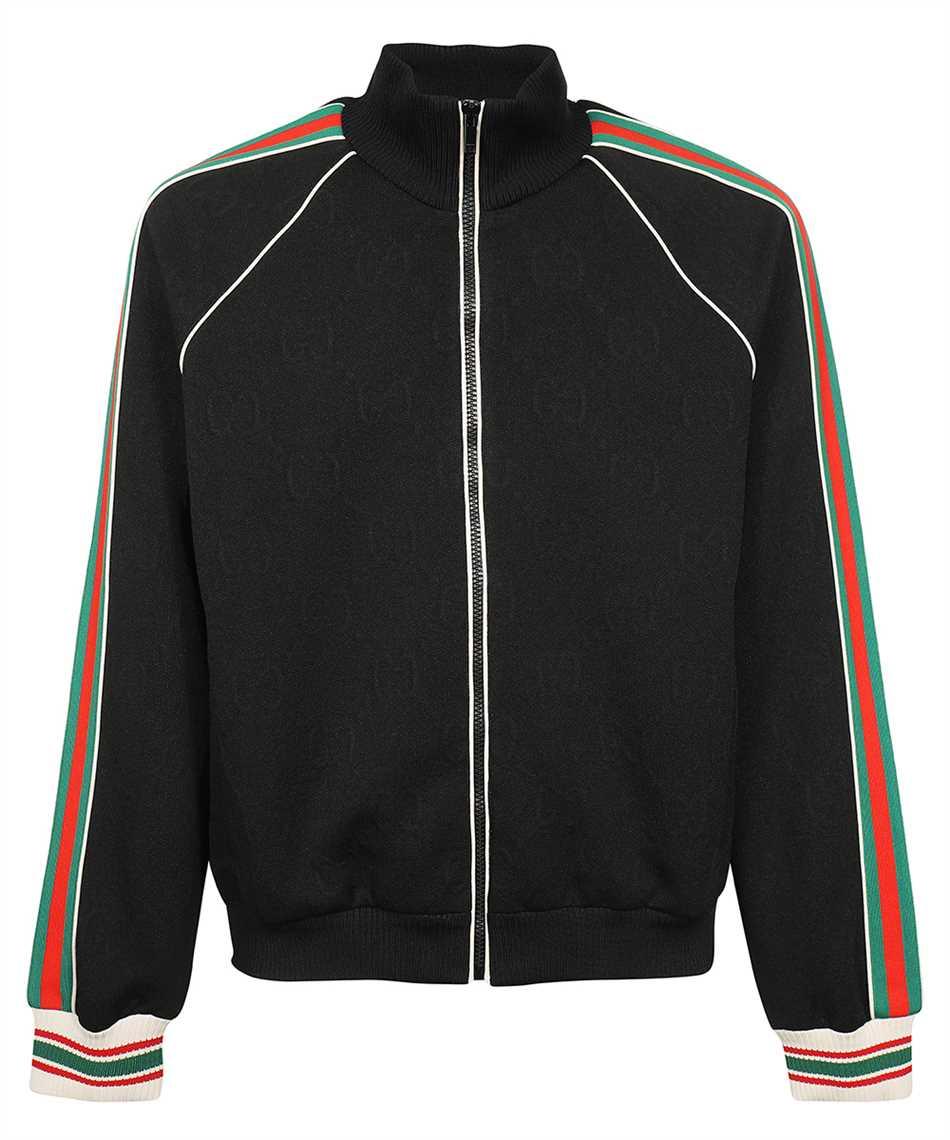 Gucci 662270 XJDE9 GG JACQUARD JERSEY ZIP Giacca 1