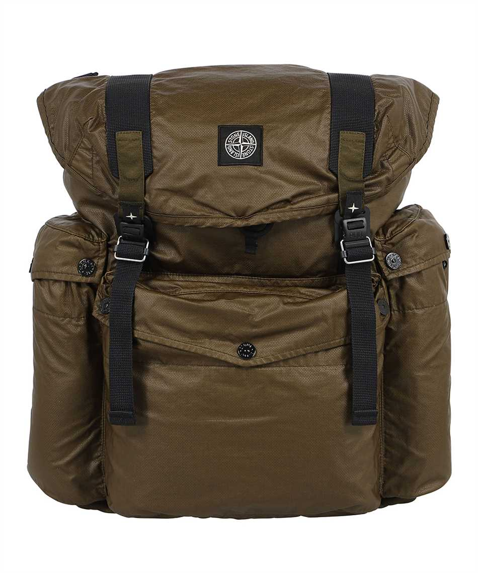 Stone Island 90370 MUSSOLA GOMMATA CANVAS PRINT Backpack 1