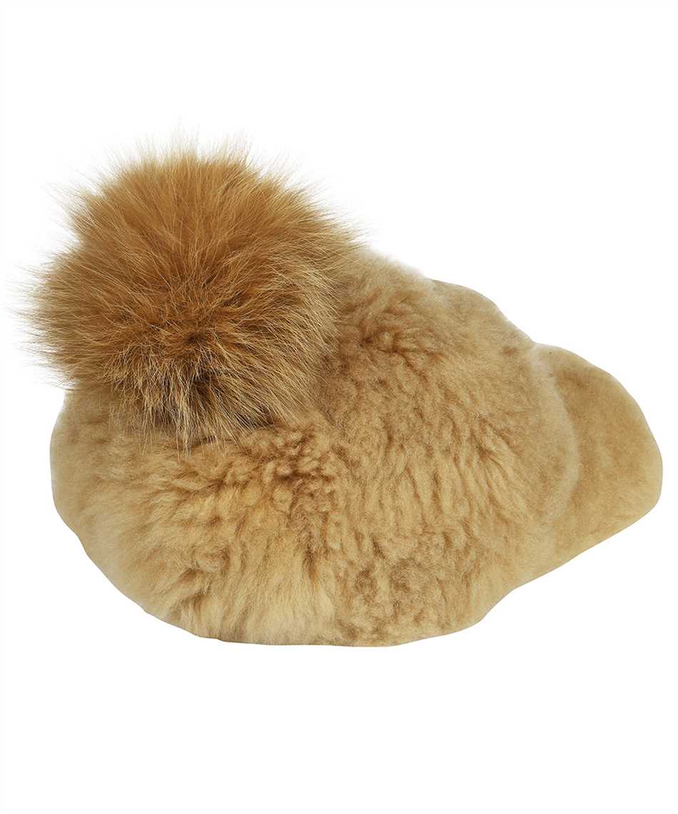 Karl Donoghue CMFPCW1 CASHMERE TOUCH SHEARLING WITH FOX FUR POM Cap 2