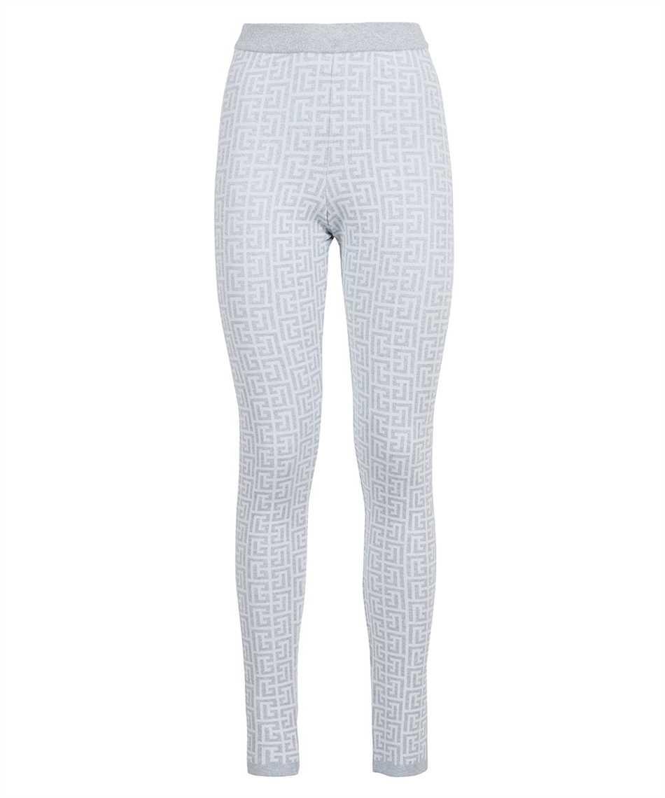 Balmain WF1PD005K272 SPARKLY KNIT MONOGRAM Trousers 1
