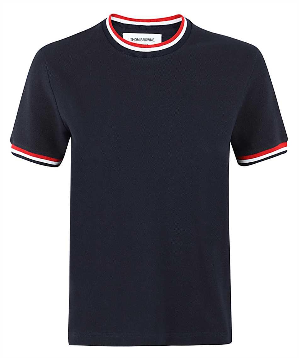 Thom Browne FJS068A 00050 RIB TRIMS T-shirt 1