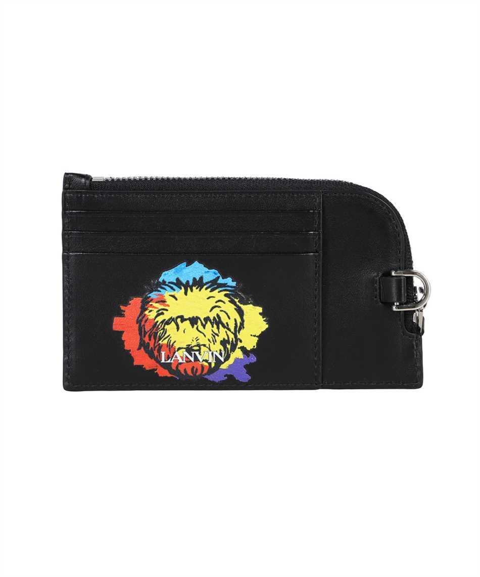 Lanvin LM SLWPN1 LDGD E21 PRINTED LEATHER NECKLACE Porta carte di credito 1