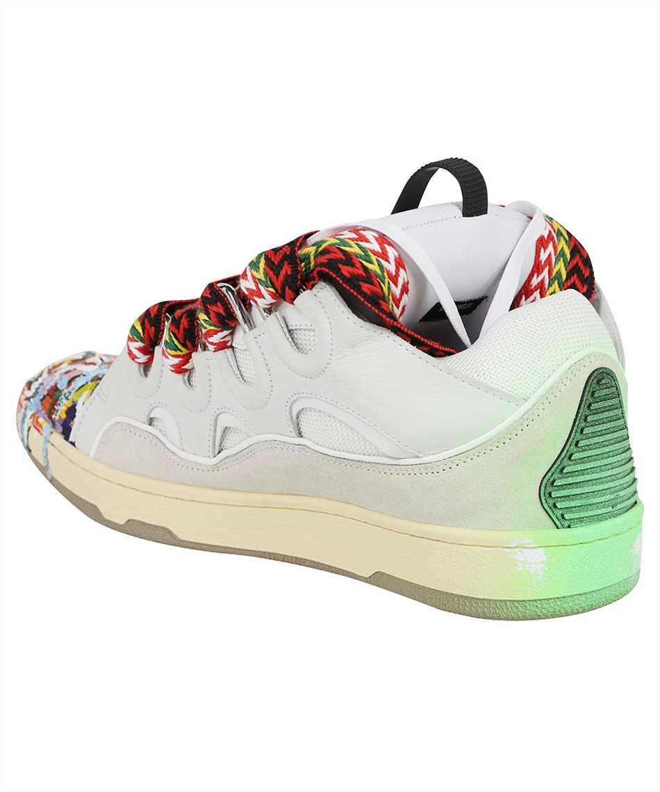 Lanvin FM SKRK11 DRGD E21 PAINTED LEATHER CURB Sneakers 3