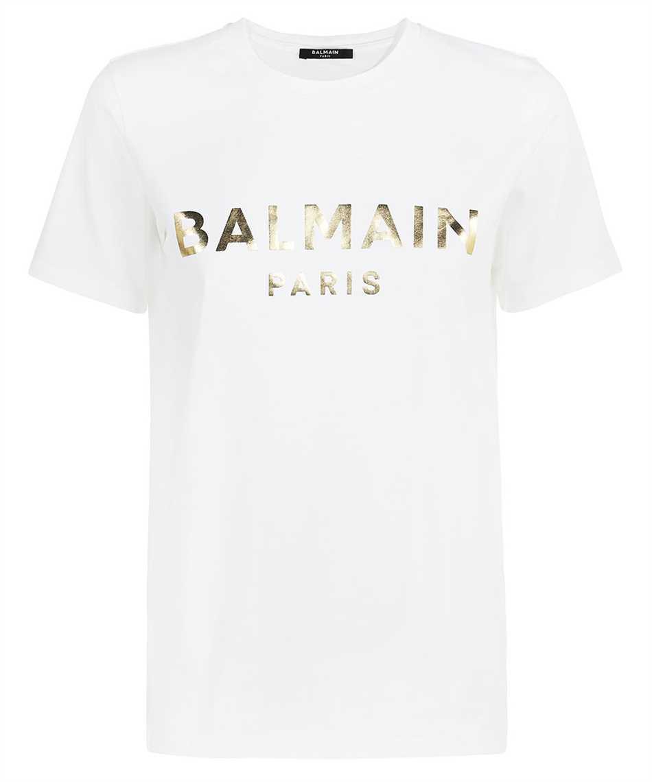 Balmain WF1EF000B097 METALLIC LOGO T-Shirt 1