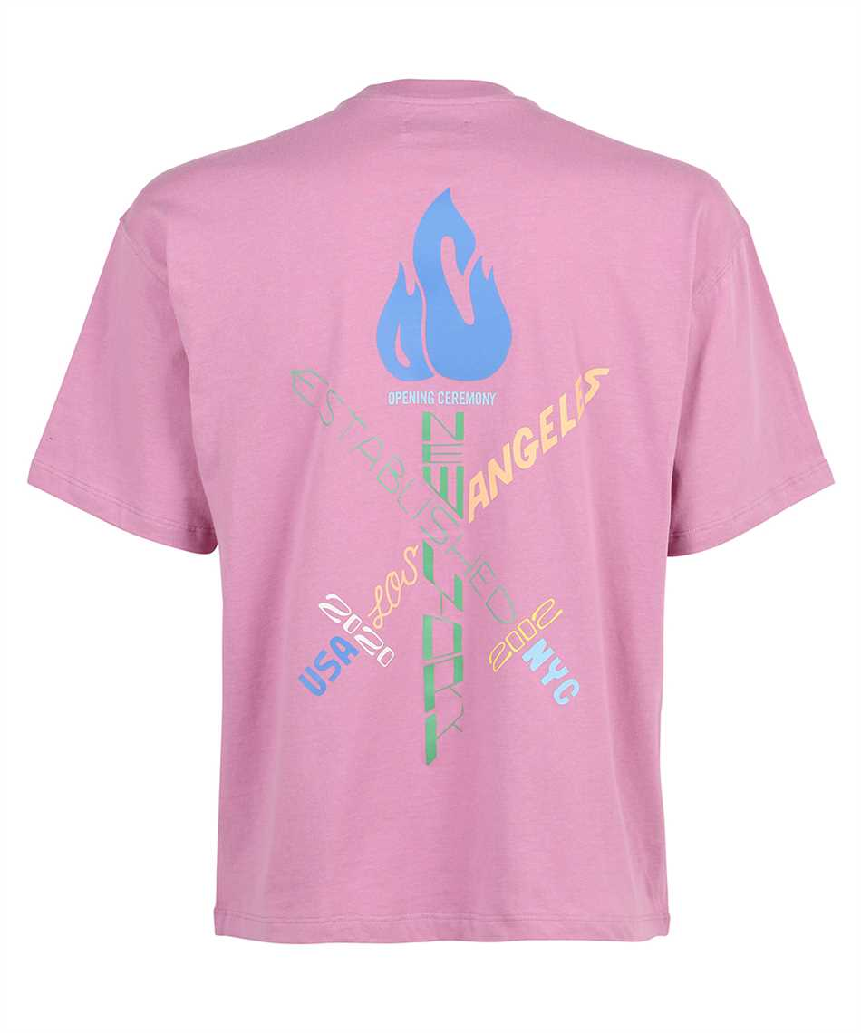 Opening Ceremony YMAA001S21JER004 WORD TORCH REGULAR T-shirt 2