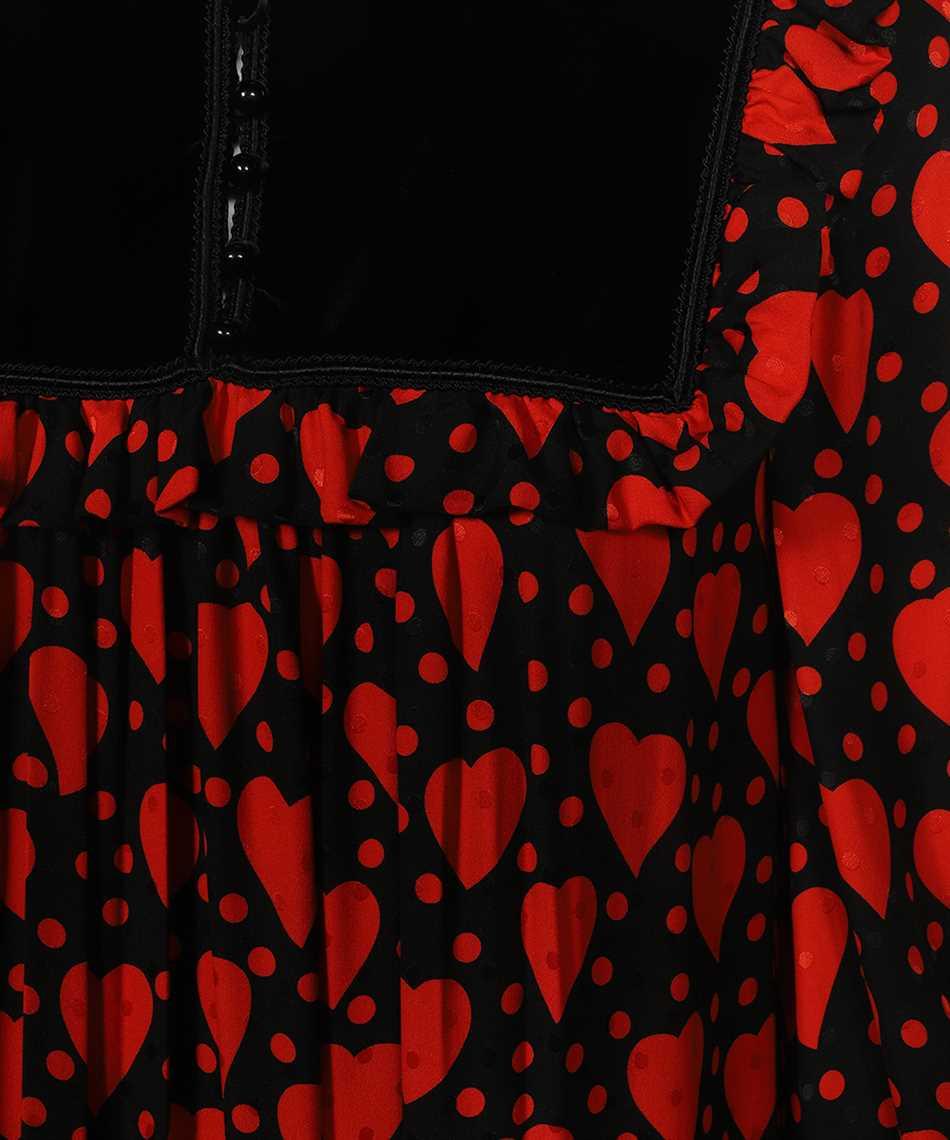 Saint Laurent 660912 Y5D46 SHINY HEART AND DOT-PRINT Abito 3