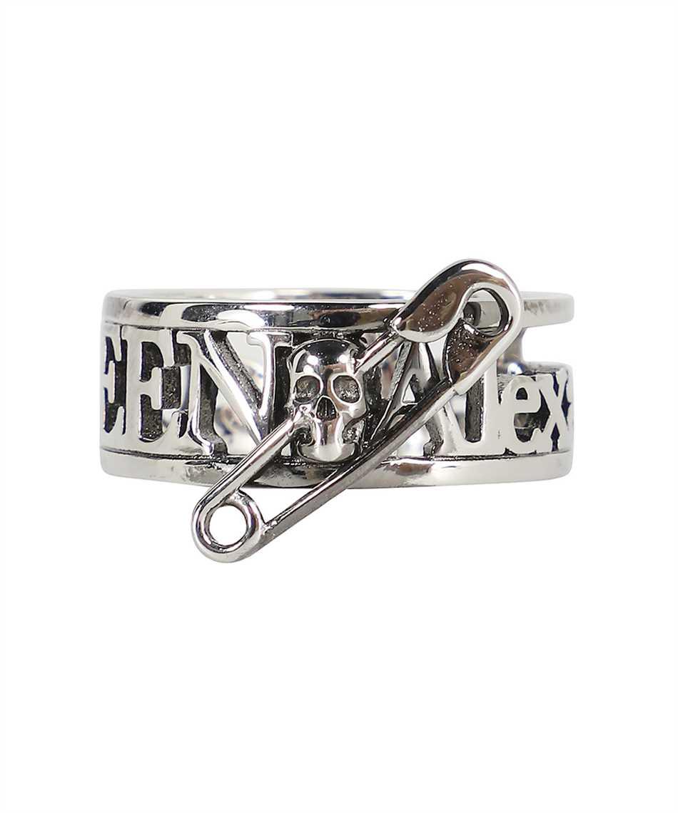 Alexander McQueen 663824 J160Y SKULL SAFETY PIN Ring 3