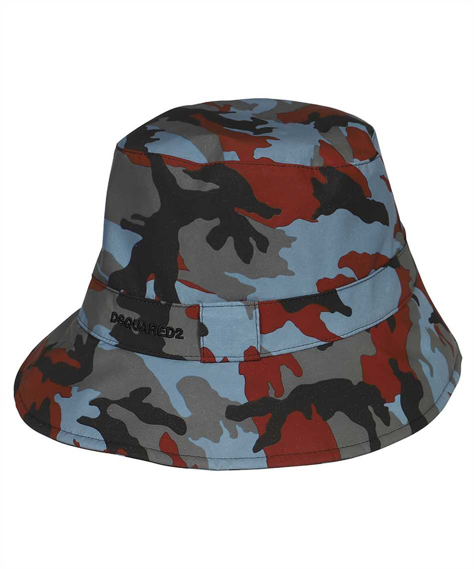 Dsquared2 HAM0021 11703887 CAMOUFLAGE NYLON BUCKET Hut 1