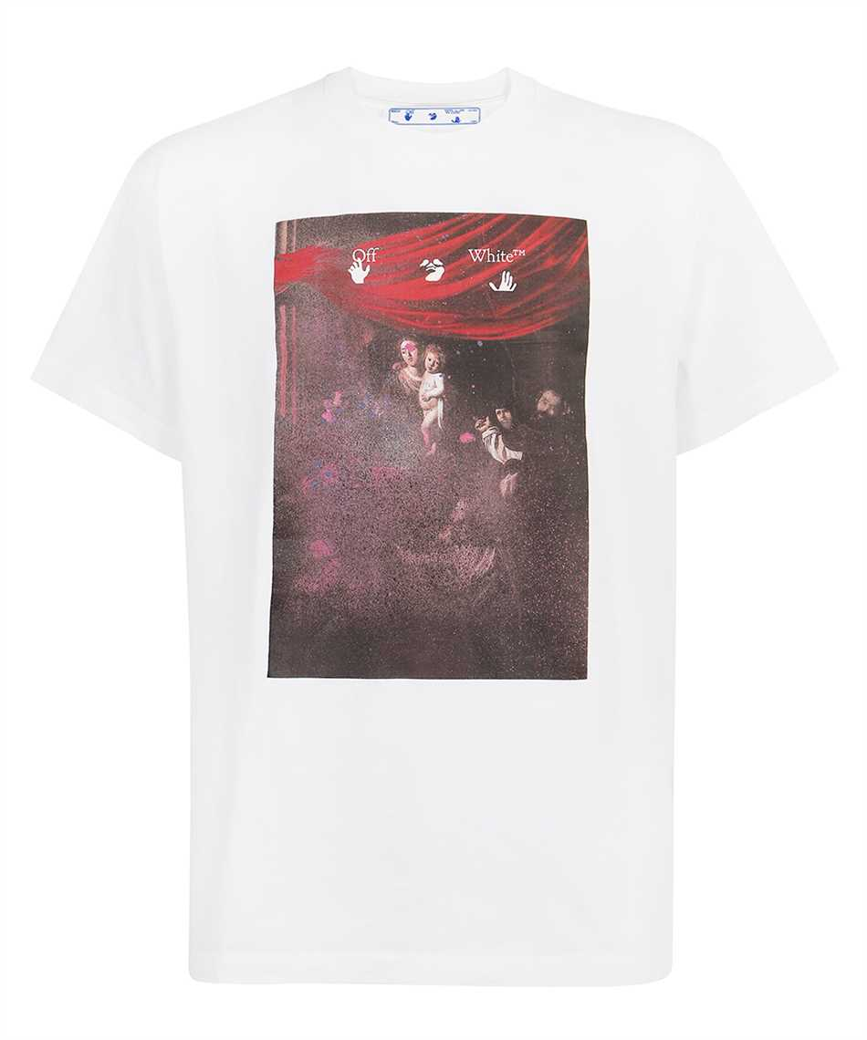 Off-White OMAA038S21JER005 SPRAYED CARAVAGGIO S/S OVER T-Shirt 1