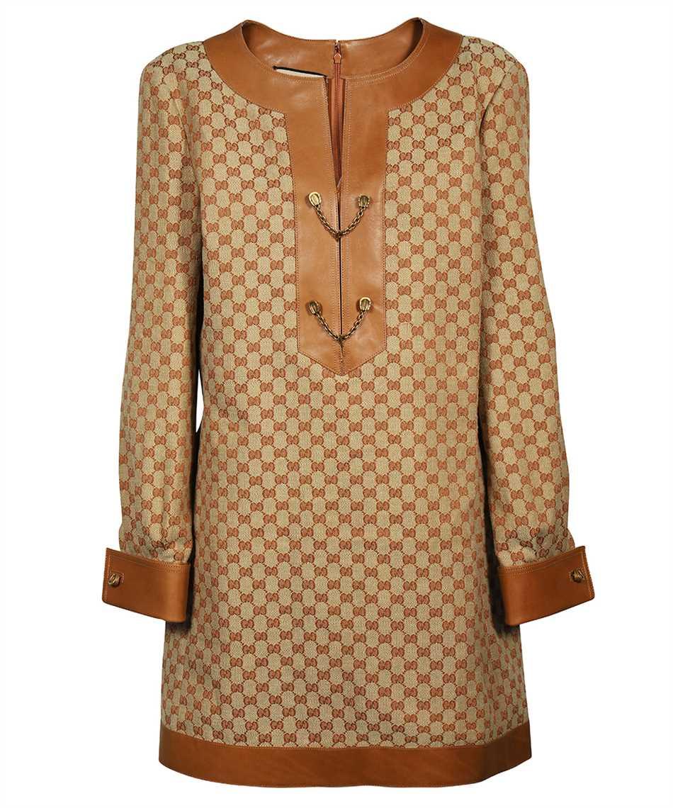 Gucci 655427 Z8AOA GG LINEN CANVAS KAFTAN Dress 1
