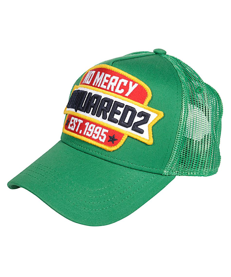DSQUARED 2-BCM0089 No Mercy Patch Berretto da Baseball in verde