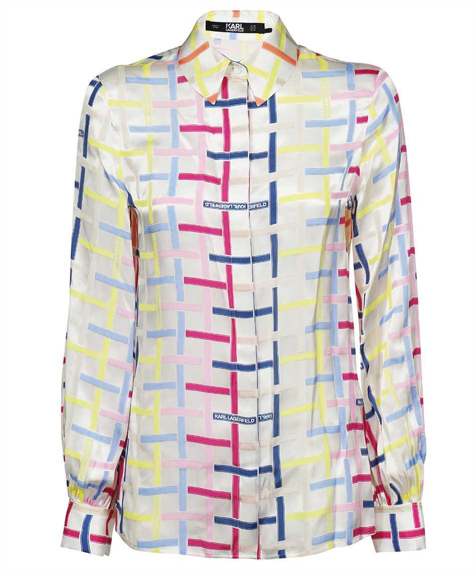 Karl Lagerfeld 215W1603 KARL CHECKED SILK Camicia 1